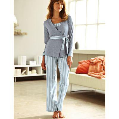 27504ff5edb40 Super Comparer pyjama femme avec ouverture devant, Grise, Blanche ...