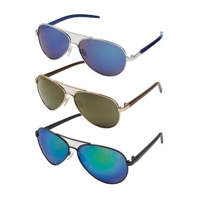 Lunettes de soleil style aviateur avec verres miroir