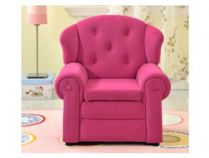 fauteuil en velours pour enfant altesse rose acheter. Black Bedroom Furniture Sets. Home Design Ideas