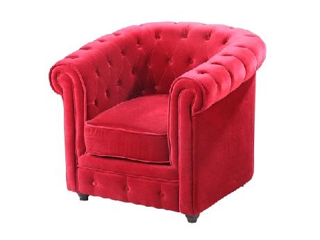 fauteuil chesterfield velours rouge acheter ce produit au meilleur prix. Black Bedroom Furniture Sets. Home Design Ideas