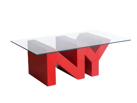 Table basse ny city laqu rouge acheter ce produit au - Table basse rouge laque ...