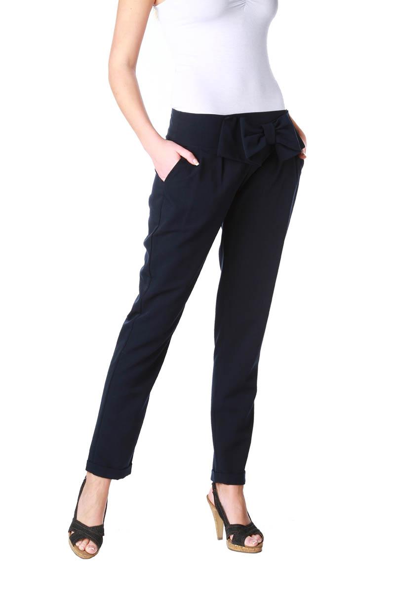 pantalon gros noeud la taille bas revers femme acheter ce produit au meilleur prix. Black Bedroom Furniture Sets. Home Design Ideas