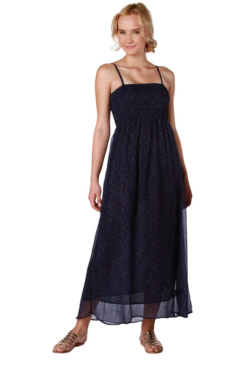 robes l gantes france robe longue bustier smockee. Black Bedroom Furniture Sets. Home Design Ideas