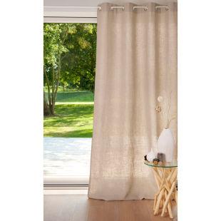 double rideau lin lourd nature acheter ce produit au meilleur prix. Black Bedroom Furniture Sets. Home Design Ideas
