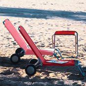 Chaises De Plage A Roulettes Wheely Par 2 Rouge Acheter Ce