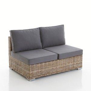 banquette fixe 2 places en kubu et coton dundee acheter ce produit au meilleur prix. Black Bedroom Furniture Sets. Home Design Ideas