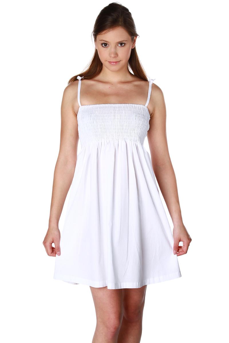 robe courte bretelles nouer en coton femme acheter ce produit au meilleur prix. Black Bedroom Furniture Sets. Home Design Ideas