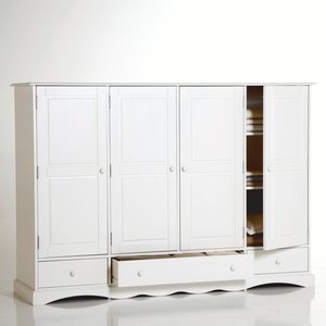 armoire pin massif h140 cm penderie et ling re acheter. Black Bedroom Furniture Sets. Home Design Ideas