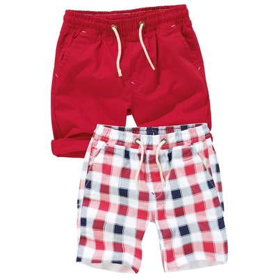 Lot de deux shorts croisi�re � carreaux (3 � 16 ans)