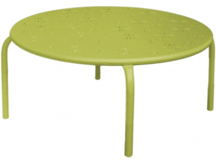 Table Basse De Jardin Fruitea En Métal Perforé Vert Acheter Ce