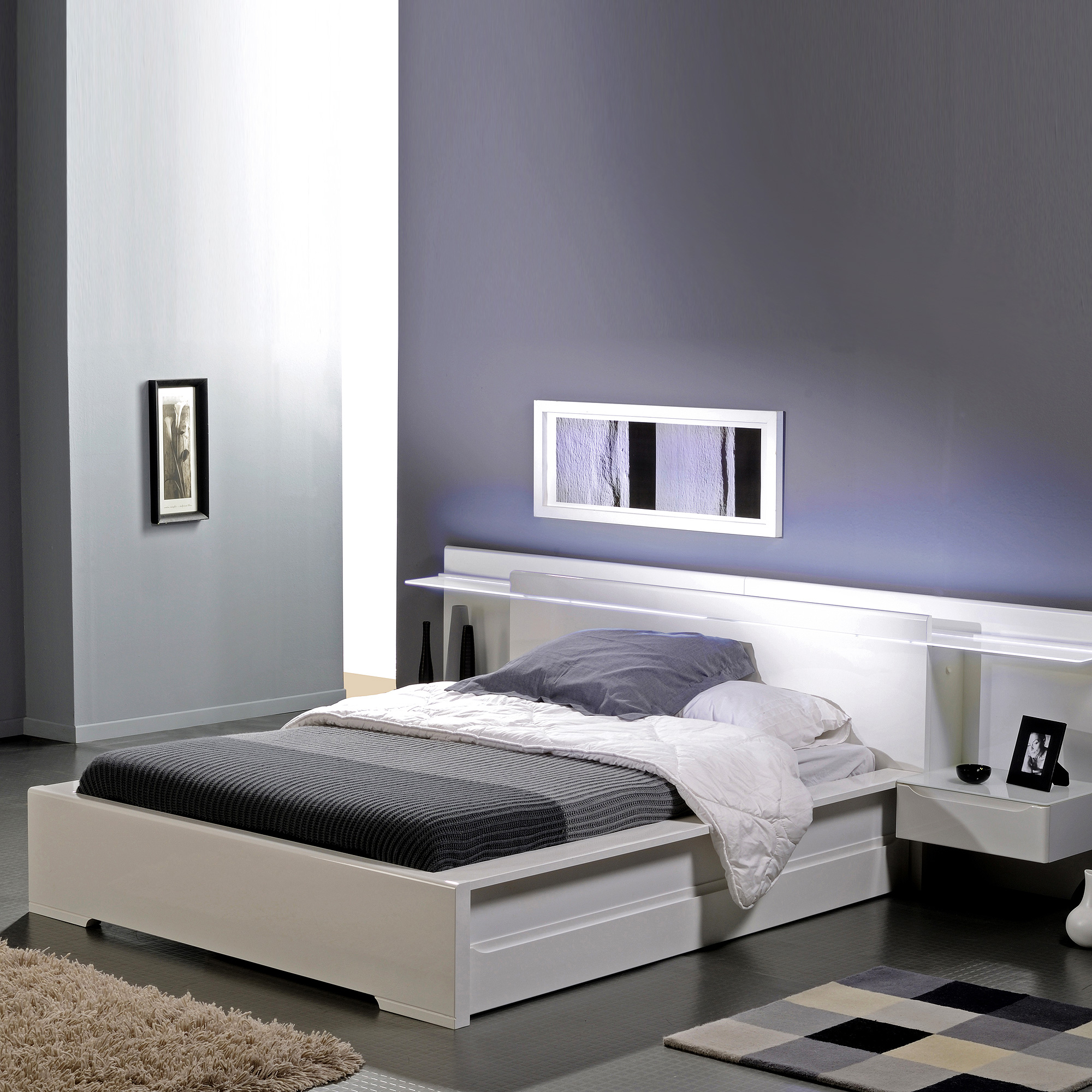 lit blanc. Black Bedroom Furniture Sets. Home Design Ideas