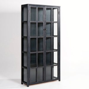 biblioth que vitr e slim pin massif acheter ce produit au meilleur prix. Black Bedroom Furniture Sets. Home Design Ideas