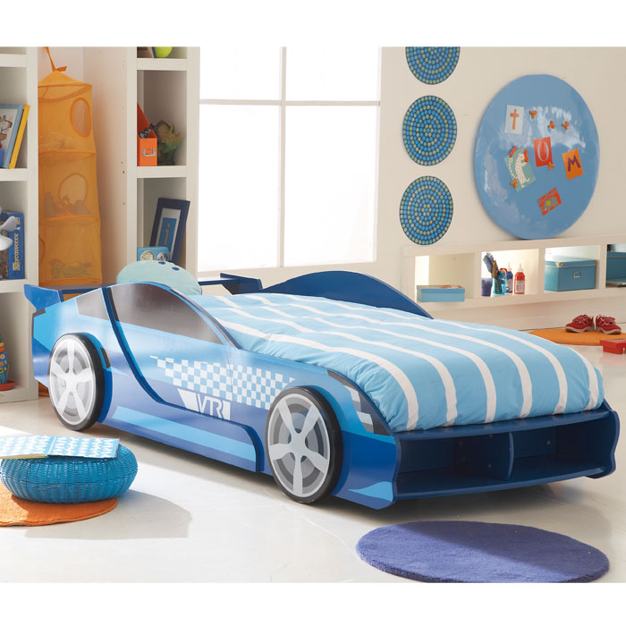 lit enfant extensible voiture sommier gta bleu. Black Bedroom Furniture Sets. Home Design Ideas