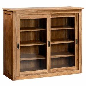etag re teck massif kenneth portes vitr es acheter ce produit au meilleur prix. Black Bedroom Furniture Sets. Home Design Ideas
