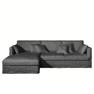 canap d 39 angle lin froiss profondeur xxl n o kinkajou confort moelleux acheter ce produit au. Black Bedroom Furniture Sets. Home Design Ideas