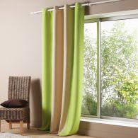rideau bicolore illets occultant 3 coloris pour grandes fen tres en polyester acheter ce. Black Bedroom Furniture Sets. Home Design Ideas