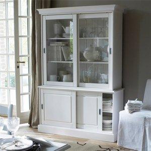 buffet vaisselier en pin massif portes coulissantes. Black Bedroom Furniture Sets. Home Design Ideas