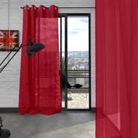 voilage microfibre pr t poser illets tertio 12 coloris au choix acheter ce produit au. Black Bedroom Furniture Sets. Home Design Ideas