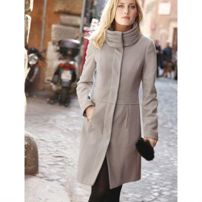 manteau col effet pliss manches longues femme grande taille votre mode du 38 au 58 acheter ce. Black Bedroom Furniture Sets. Home Design Ideas