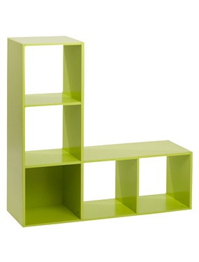 etagere de rangement enfant en l 5 casiers vertbaudet. Black Bedroom Furniture Sets. Home Design Ideas