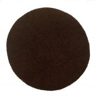 tapis rond diam tre 180 cm en velours pur coton chenille. Black Bedroom Furniture Sets. Home Design Ideas