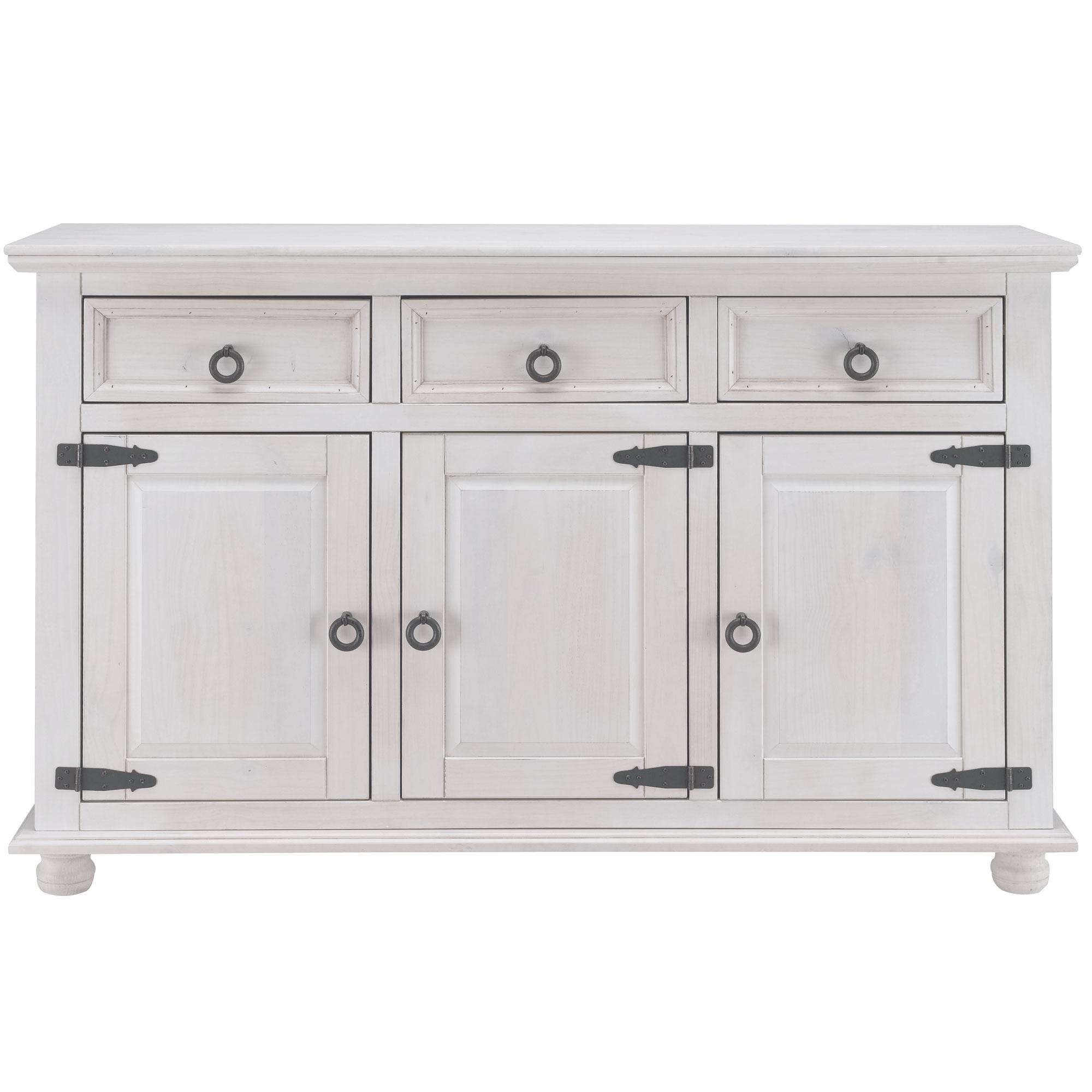 buffet 3 portes 3 tiroirs salvador blanc anniversaire 40 ans acheter ce produit au. Black Bedroom Furniture Sets. Home Design Ideas