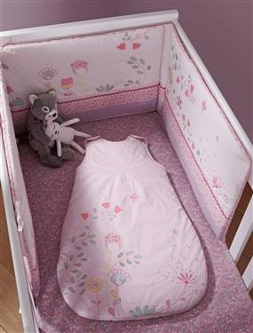 tour de lit brode bebe theme fleurs vertbaudet acheter ce produit au meilleur prix. Black Bedroom Furniture Sets. Home Design Ideas