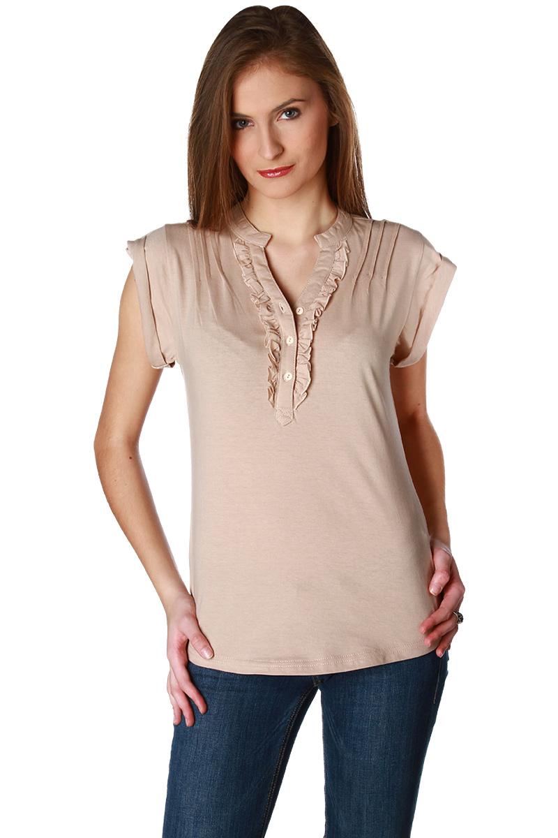 t-shirt col v manches courtes femme
