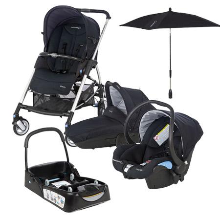 pack streety avec base et ombrelle total black acheter. Black Bedroom Furniture Sets. Home Design Ideas