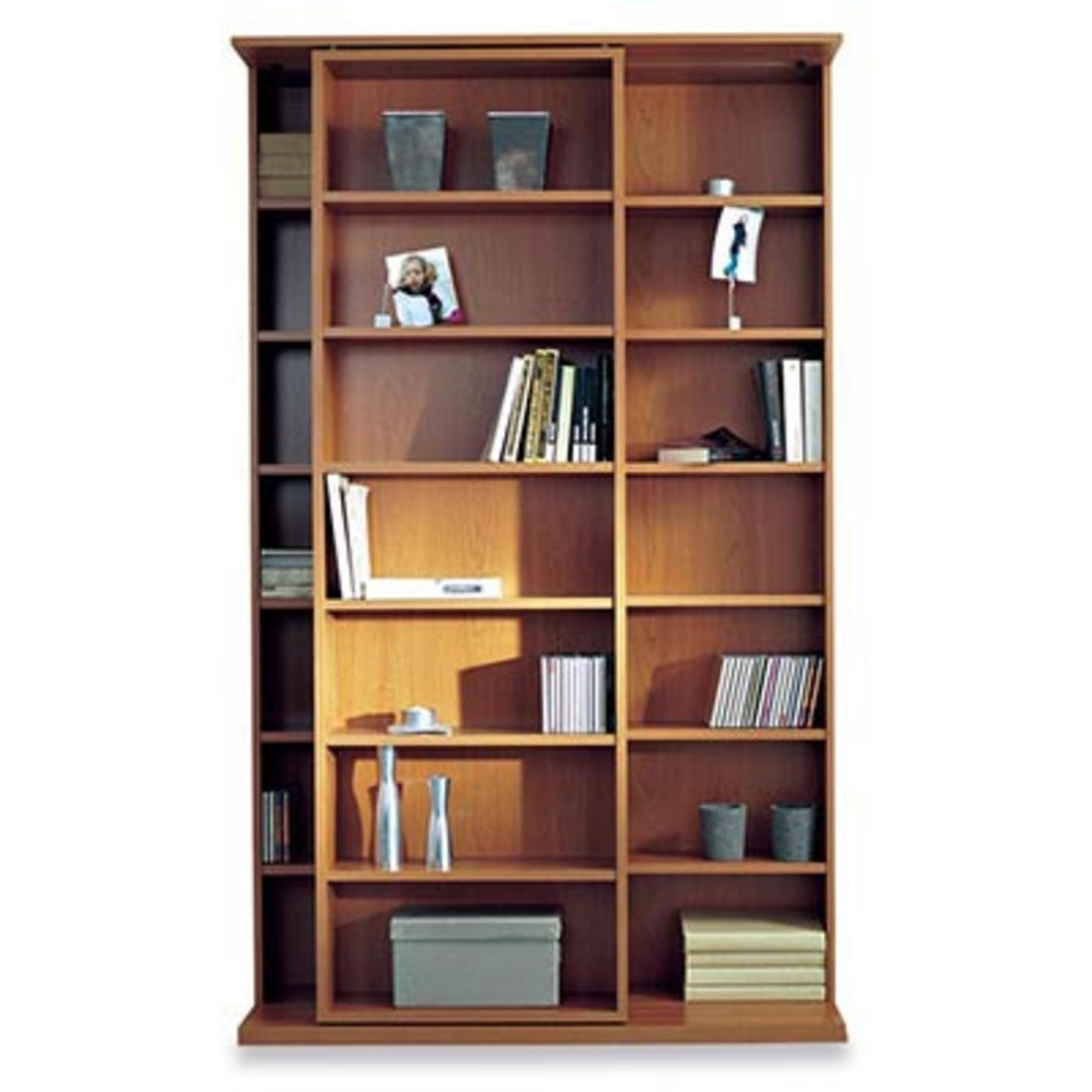 biblioth que coulissante slide merisier anniversaire 40 ans acheter ce produit au meilleur. Black Bedroom Furniture Sets. Home Design Ideas