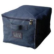 bo te de rangement textile bleu family jeans couleur m acheter ce produit au meilleur prix. Black Bedroom Furniture Sets. Home Design Ideas