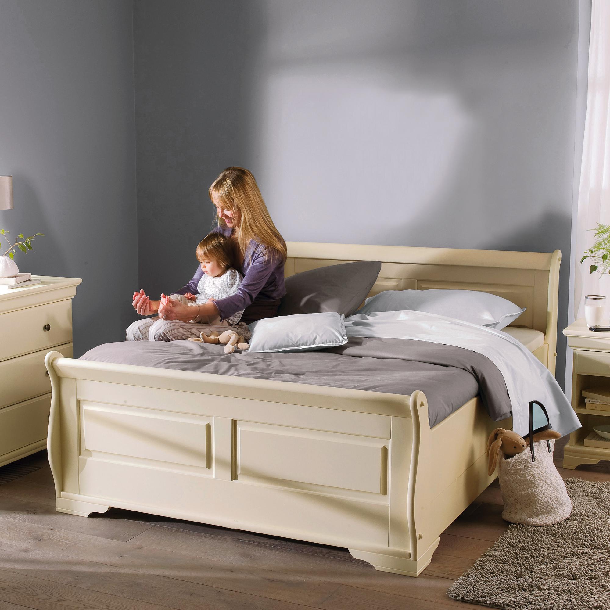 lit 140 x 190 cm style louis philippe ivoire anniversaire 40 ans acheter ce produit au. Black Bedroom Furniture Sets. Home Design Ideas