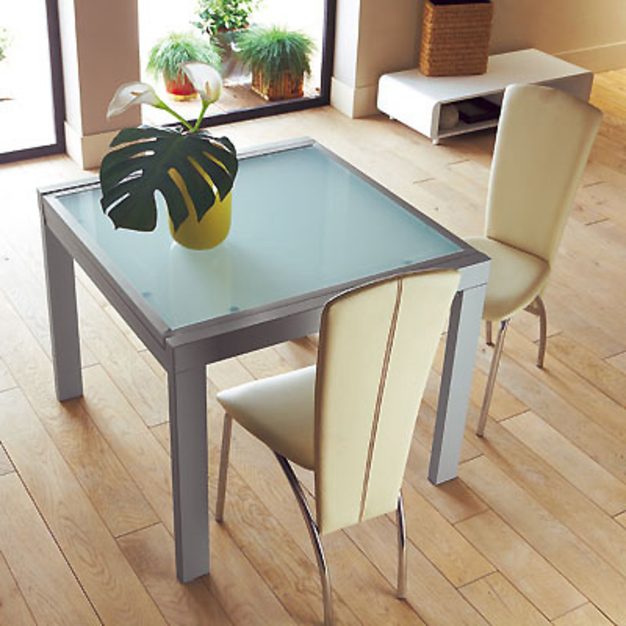 Table allonge 90 x 90 cm tempo anniversaire 40 ans for Table extensible 90 90
