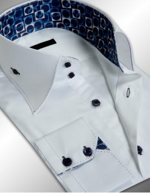 lyron chemise homme cintree blanche col italien deux boutons acheter ce produit au meilleur prix. Black Bedroom Furniture Sets. Home Design Ideas