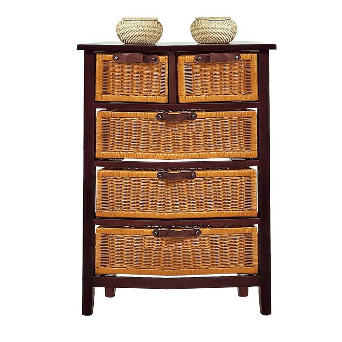 commode 3 2 tiroirs pin et rotin mah frais de traitement de commande offerts acheter ce. Black Bedroom Furniture Sets. Home Design Ideas