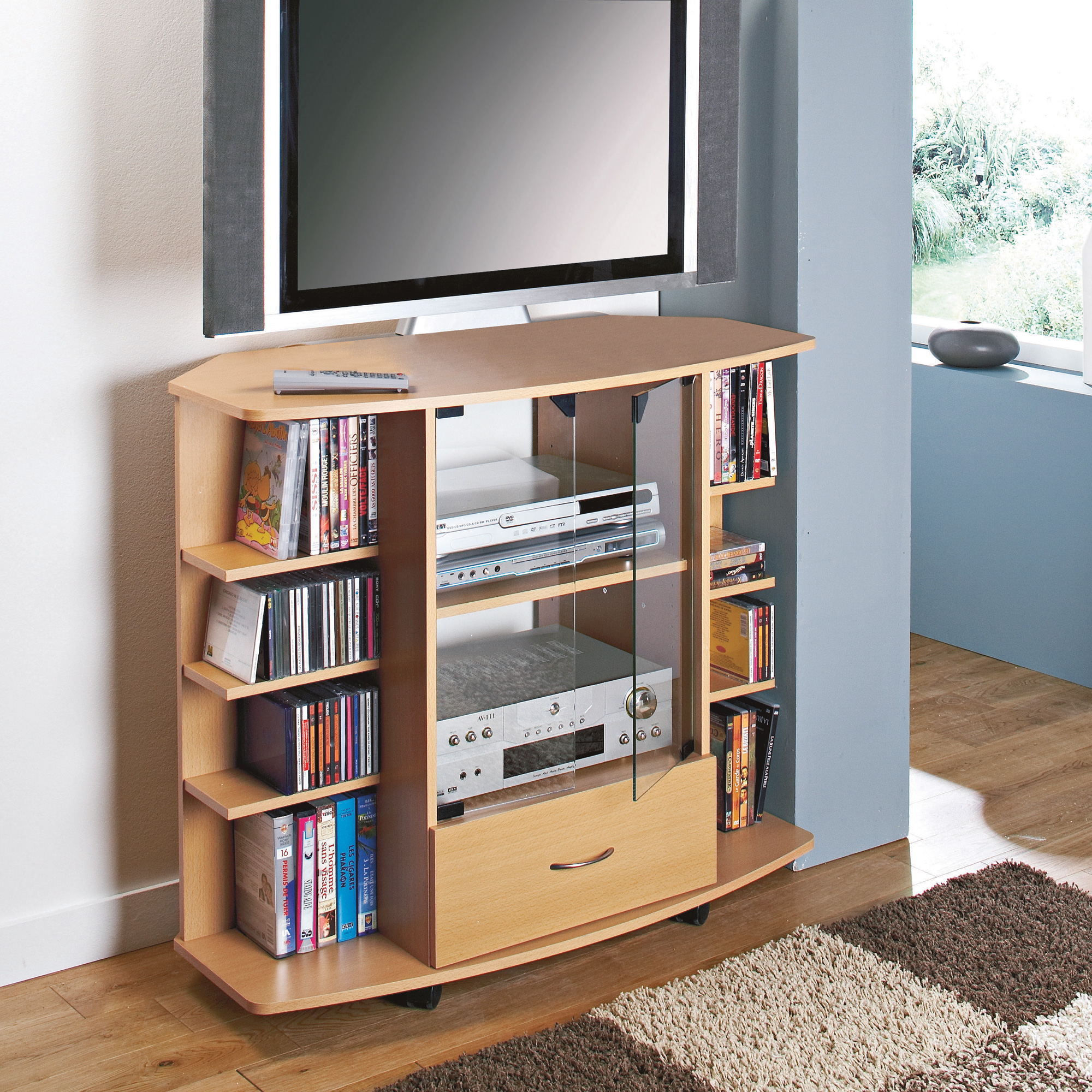 meuble tv hifi but meuble chaine hifi design. Black Bedroom Furniture Sets. Home Design Ideas