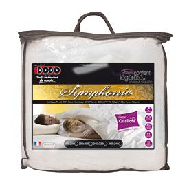 couette chaude symphonie 200x200 dodo acheter ce produit au meilleur prix. Black Bedroom Furniture Sets. Home Design Ideas
