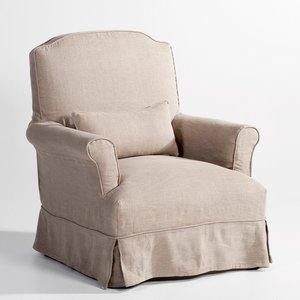 fauteuil d houssable lothar rev tement pur lin acheter ce produit au meilleur prix. Black Bedroom Furniture Sets. Home Design Ideas