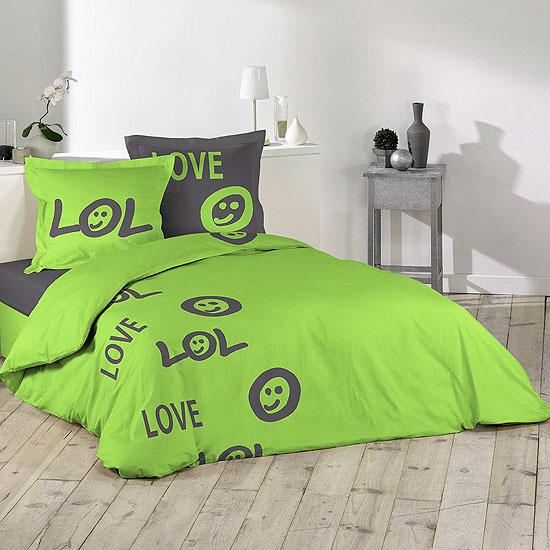 parure de lit smileys 100 coton acheter ce produit au meilleur prix. Black Bedroom Furniture Sets. Home Design Ideas