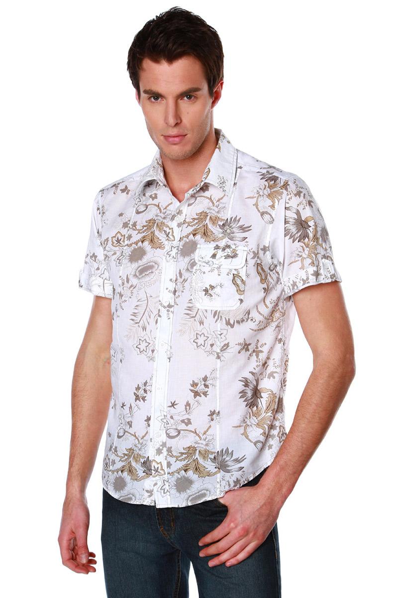 chemise imprim e fleurs manches courtes homme acheter ce produit au meilleur prix. Black Bedroom Furniture Sets. Home Design Ideas