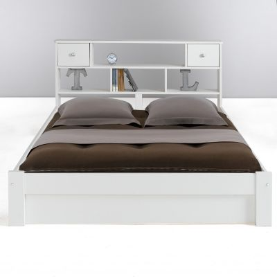 lit tag re 2 personnes 140 x 190 cm en pin massif. Black Bedroom Furniture Sets. Home Design Ideas