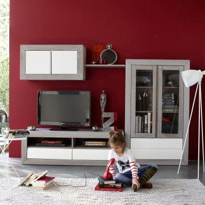 Meuble banc tv bicolore holme certifié fsc - Acheter ce produit au ...