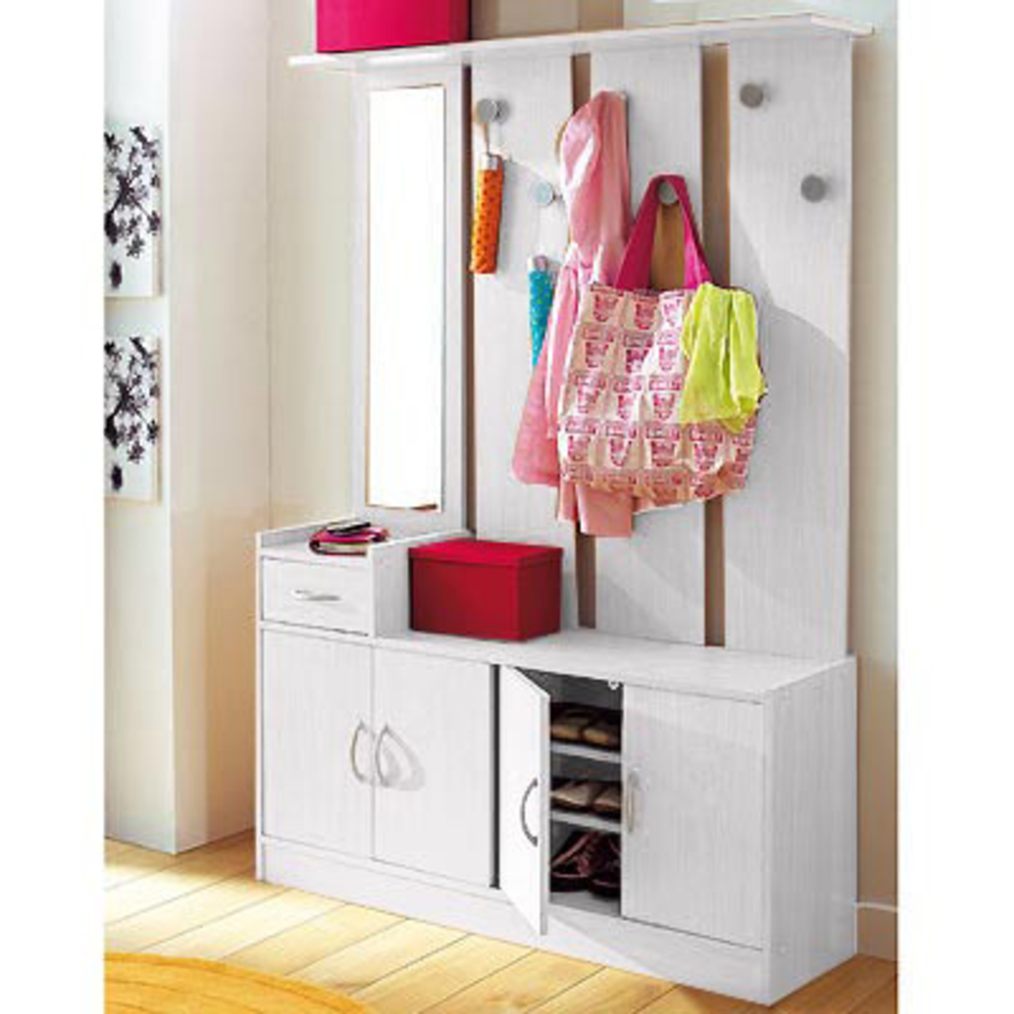 vestiaire largeur 120 cm groom blanc anniversaire 40. Black Bedroom Furniture Sets. Home Design Ideas