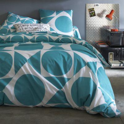 housse de couette en pur coton imprim vert meraude octave acheter ce produit au meilleur prix. Black Bedroom Furniture Sets. Home Design Ideas