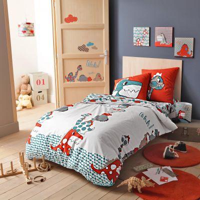 parure housse de couette mon univers dino de selene et gaia en pur coton acheter ce produit au. Black Bedroom Furniture Sets. Home Design Ideas