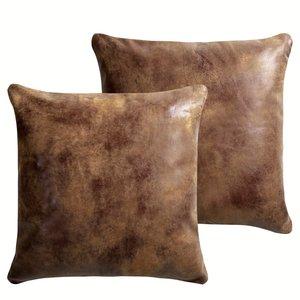 Coussin lot de 2 ou 4 ou traversin cuir lennon acheter for Coussin pour canape cuir