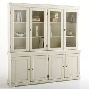 Biblioth que vitrine pin massif 4 portes acheter ce produit au meilleur prix - Bibliotheque en pin massif ...