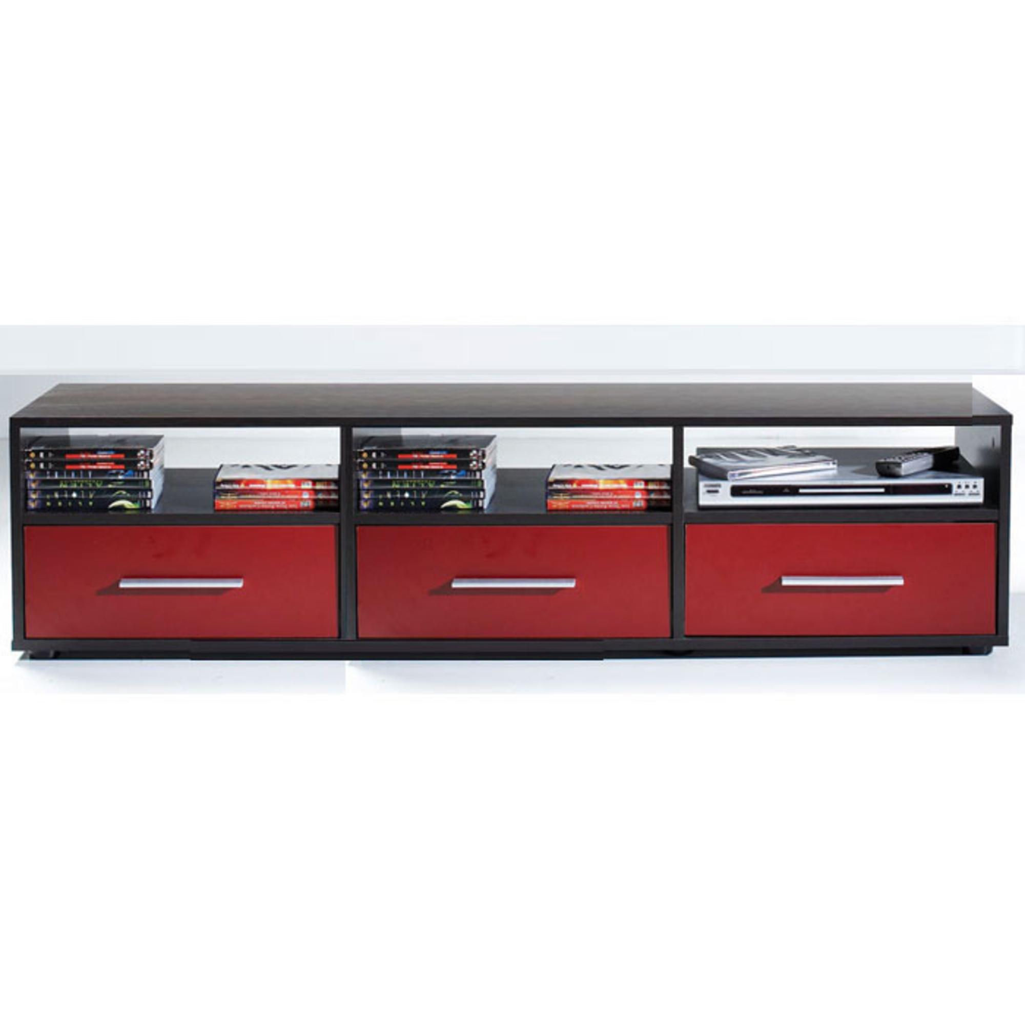 Meuble tv cran plat 3 tiroirs citizen weng rubis for Les meubles a tiroirs plats