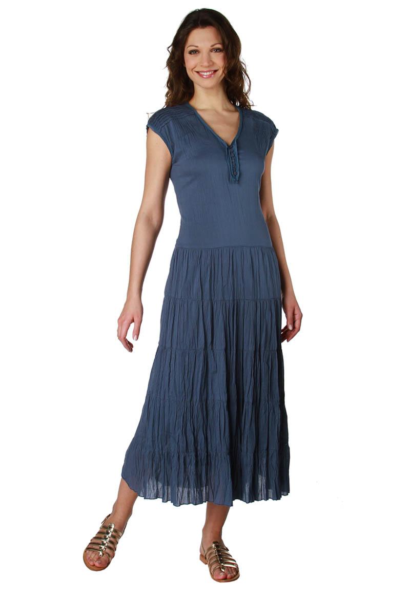 robe longue tissu froiss en coton femme acheter ce produit au meilleur prix. Black Bedroom Furniture Sets. Home Design Ideas