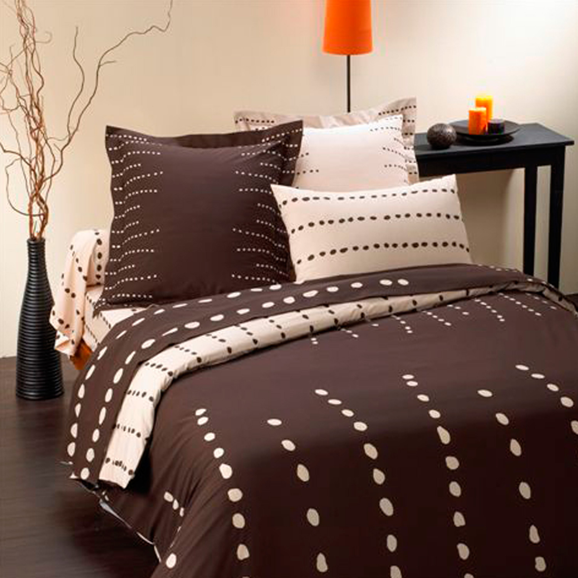 parure de drap 2 pers galet marron 240 x 300 cm frais. Black Bedroom Furniture Sets. Home Design Ideas